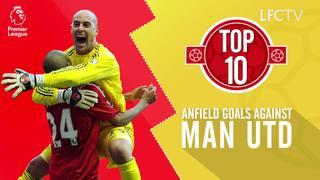 10 Gol Terbaik LFC lawan Man Utd di Anfield