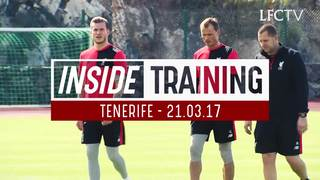 Inside Training: นักเตะลิเวอร์พูลฝึกซ้อมที่เตเนริเฟ่