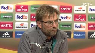 Konferensi pers Klopp jelang leg pertama semifinal Europa League
