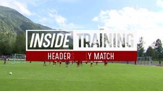 Inside Training: นักเตะลิเวอร์พูลลงแข่งขันเกมที่ใช้แค่ลูกโหม่งเท่านั้น!