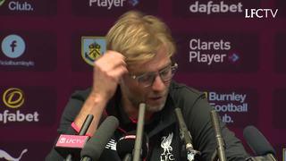 Konferensi pers Klopp pasca lawan Burnley