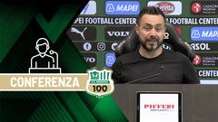 Mister De Zerbi prima di Sassuolo-Juventus
