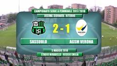 Gli Highlights di Sassuolo-Verona Femminile 2-1