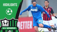 Gli highlights di Milan-Sassuolo Femminile, Coppa Italia
