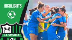 Gli highlights di Sassuolo-Milan Femminile 2-2