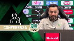 Mister De Zerbi prima di Sassuolo-Milan