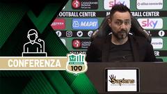 Mister De Zerbi prima di Sassuolo-Sampdoria