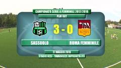 Gli Highlights di Roma-Sassuolo Femminile 0-3