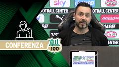 Mister De Zerbi prima di Benevento-Sassuolo