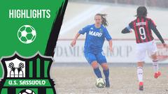 Gli highlights di Milan-Sassuolo Femminile