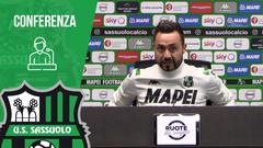 Mister De Zerbi prima di Sassuolo-Fiorentina