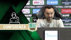 Mister De Zerbi prima di Sassuolo-Torino