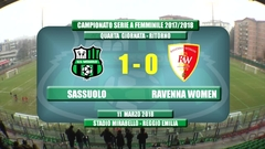 Gli highlights di Sassuolo-Ravenna Femminile 1-0