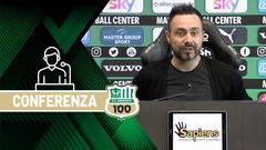 Mister De Zerbi prima di Sassuolo-Roma