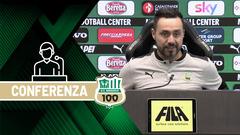 Mister De Zerbi prima di Fiorentina-Sassuolo