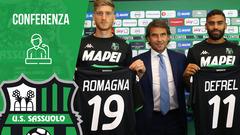 La presentazione di Romagna e Defrel