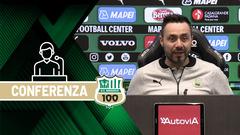 Mister De Zerbi prima di Sassuolo-Genoa
