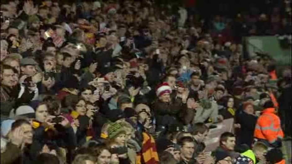 Click here to watch the Bradford 1 Arsenal 1 video