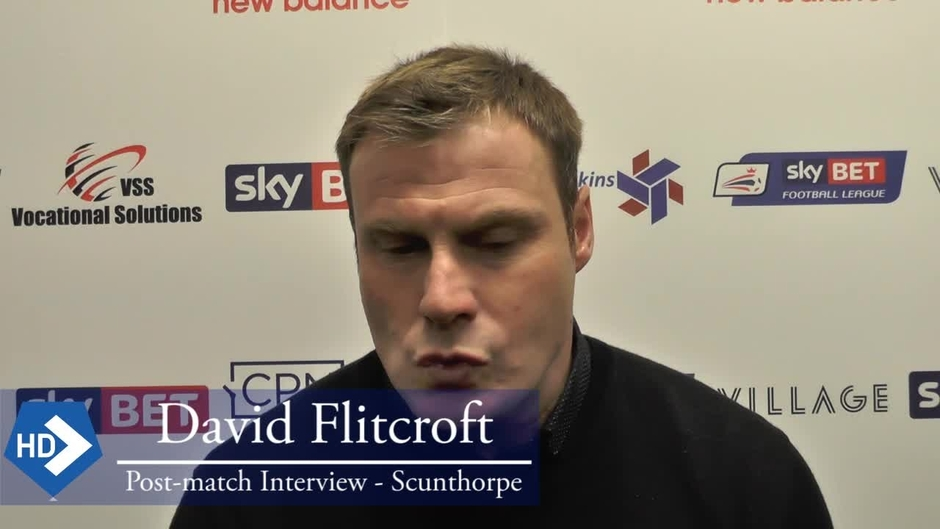 Click here to watch the David Flitcroft after the Scunthorpe match video