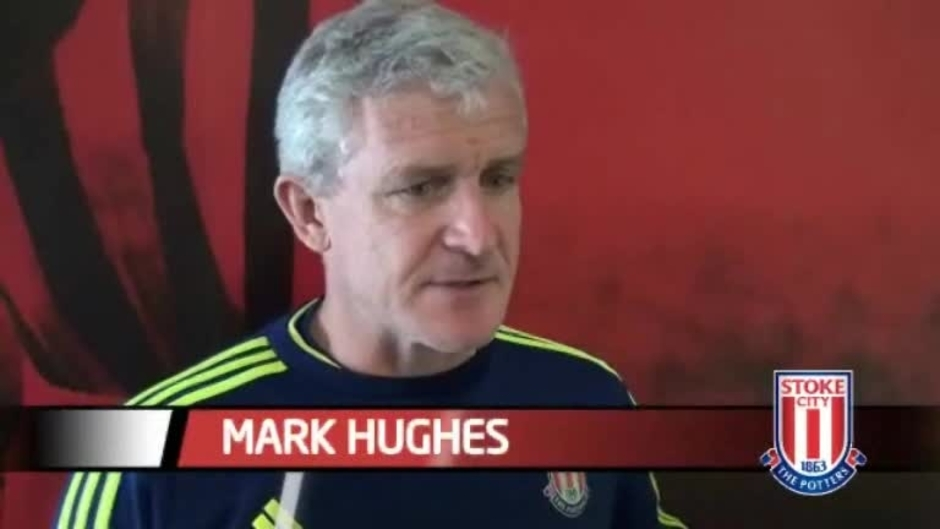 Click here to watch the Hughes Looking Forward To Arsenal video