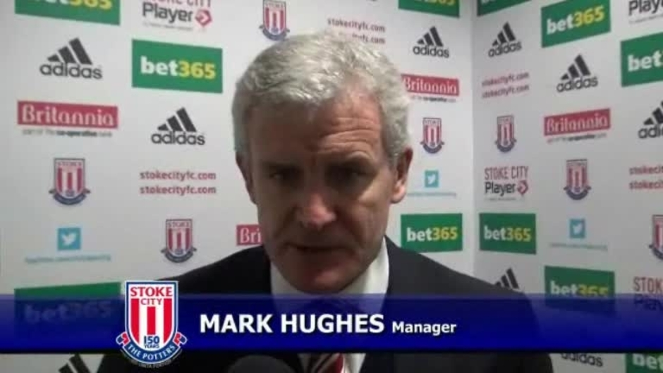 Click here to watch the Hughes Delighted On Cup Progress video
