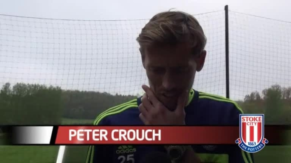 Click here to watch the Crouch Looking Forward To Spurs Test video