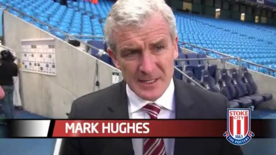 Click here to watch the Hughes Proud After Man City Defeat video