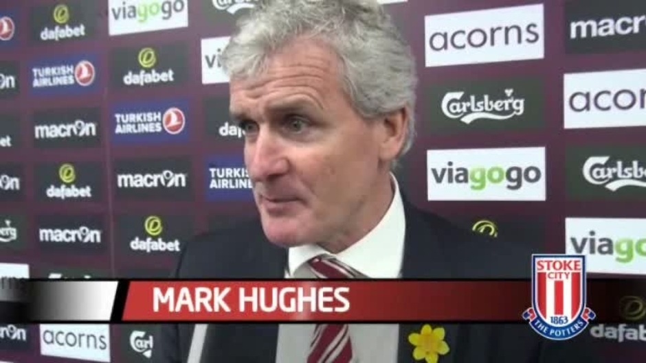 Click here to watch the Hughes Delighted With Villa Win video