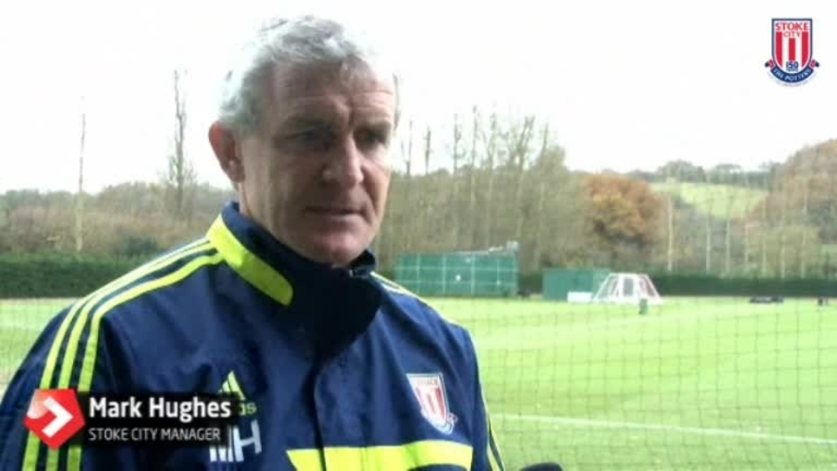 Click here to watch the Hughes Relishes Everton Test video