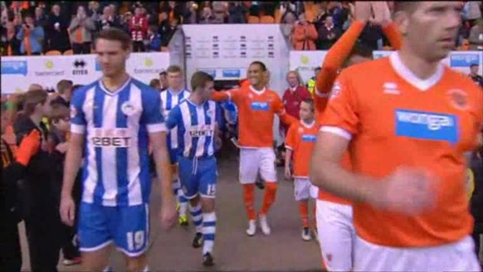 Click here to watch the Blackpool 1 Wigan 0 video