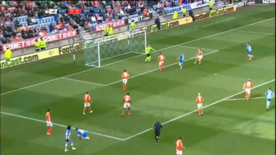 Click here to watch the Wigan 0 Blackpool 2 video