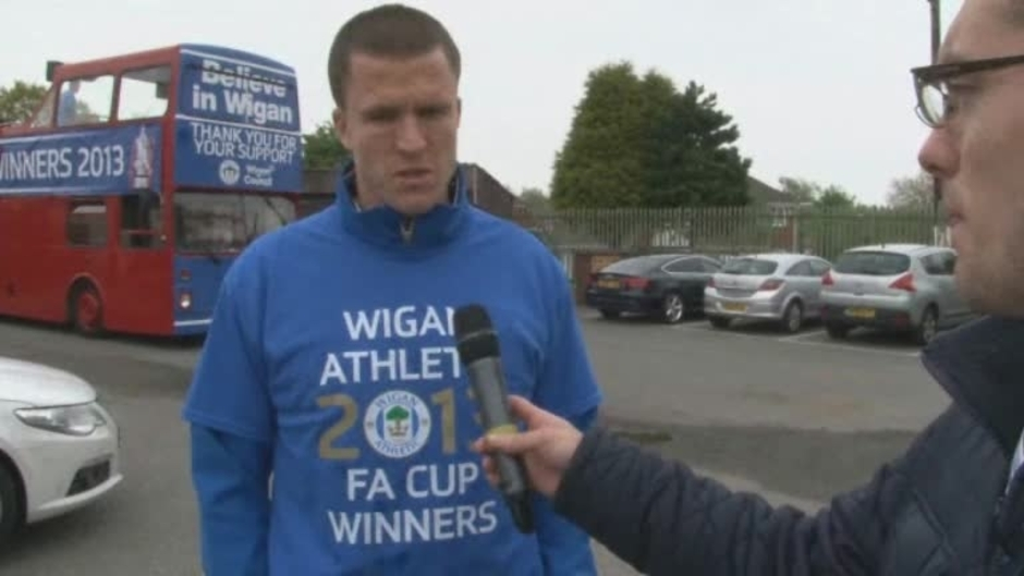 Click here to watch the FA CUP: Gary Caldwell ahead of the bus parade video
