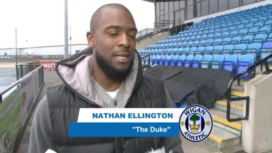 Click here to watch the VIDEO: ELLINGTON BACK IN WIGAN video