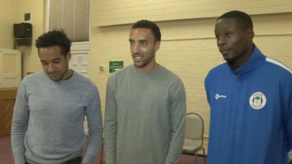 Click here to watch the VIDEO: PLAYERS VISIT HOPE SCHOOL video