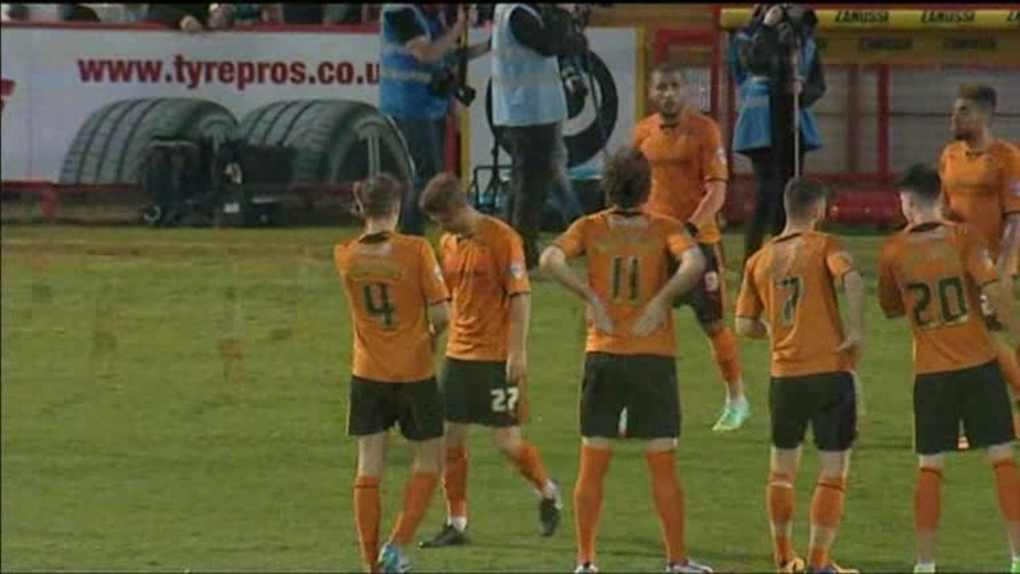 Click here to watch the Stevenage 0 Wolves 0 video