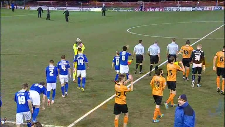 Click here to watch the Oldham 0 Wolves 3 video