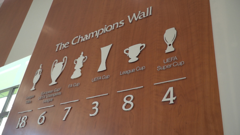 Video thumbnail for The Champions Wall updated with Super Cup win