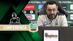 Mister De Zerbi prima di Sassuolo-Napoli