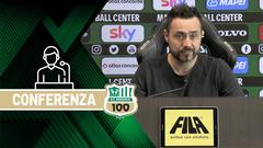 Mister De Zerbi prima di Sassuolo-Atalanta