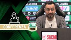Mister De Zerbi prima di Inter-Sassuolo
