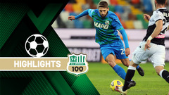 Udinese-Sassuolo 2-0 Highlights