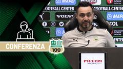 Mister De Zerbi prima di Lazio-Sassuolo