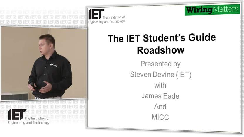 student s guide roadshow iet wiring regulations micc and james rh tv theiet org