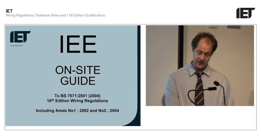wiring regulations guidance notes and 17th edition qualification rh tv theiet org