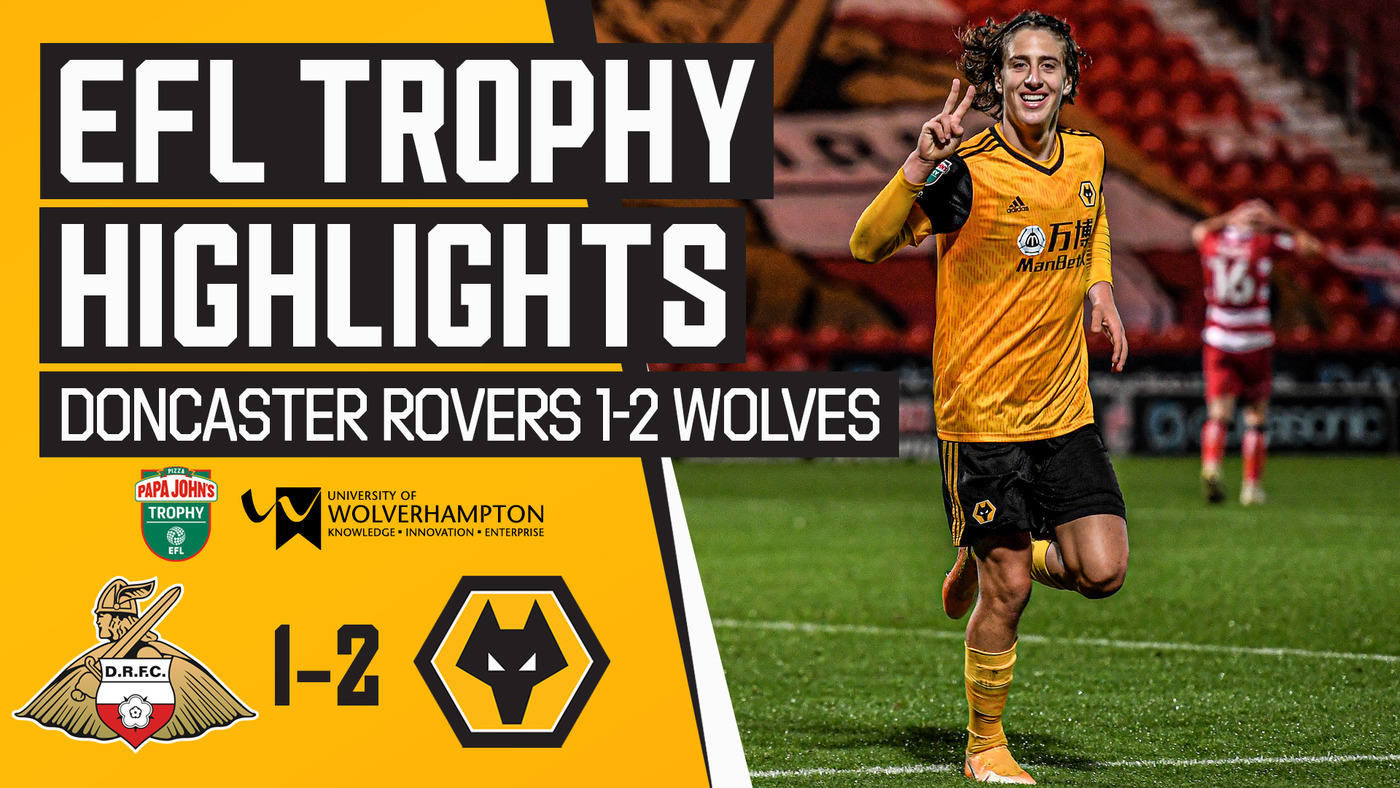 Fabio Silva shines in under-21s win | Doncaster Rovers 1-2 Wolves U21 | Extended highlights