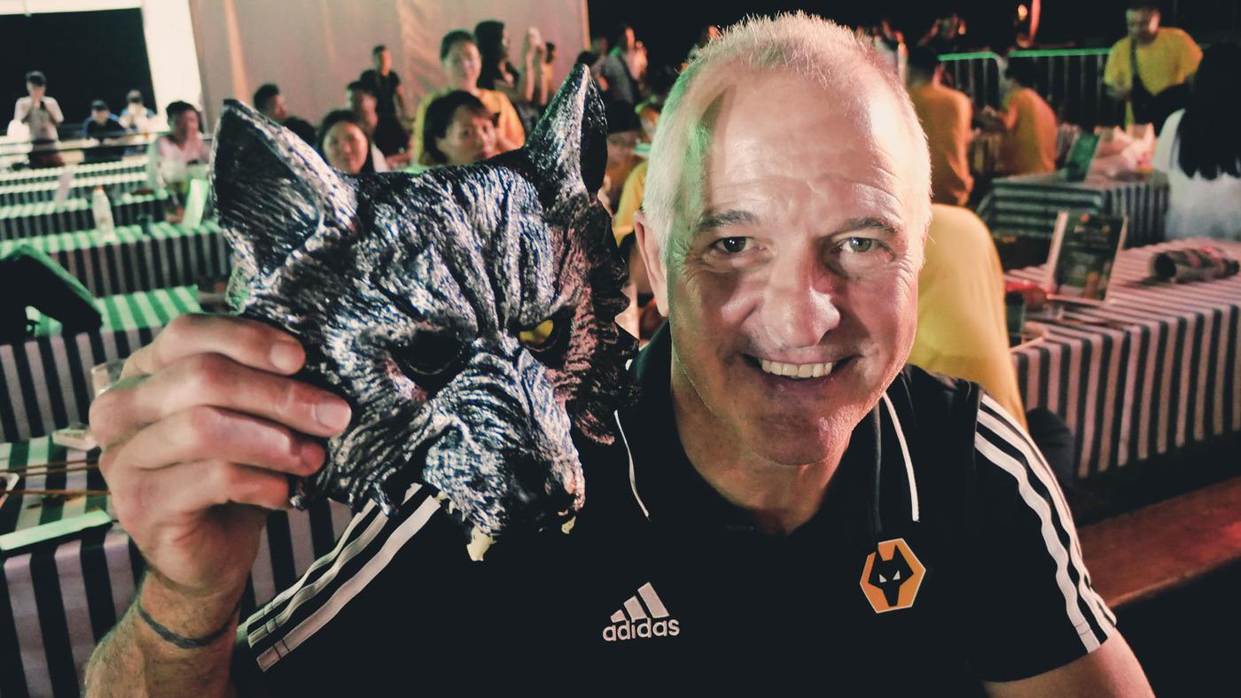 Bully attends Wolves Night at the Tsingtao beer festival!