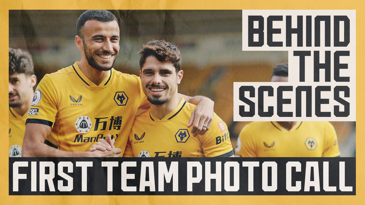 Neto and Jonny reunited with the squad!   Behind-the-scenes of the Wolves team photo