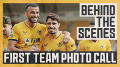 Neto and Jonny reunited with the squad! | Behind-the-scenes of the Wolves team photo