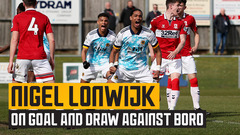 Nigel Lonwijk on his first under-23s goal