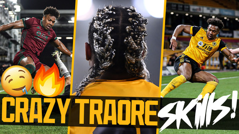 Adama Traore beating players for three minutes straight | Tricks, speed, strength, oil